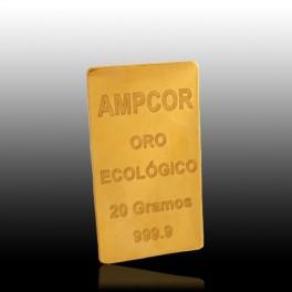 LINGOTE DE ORO ECOLÓGICO DE 20 grs.